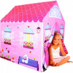 Rózsaszín házikó (95x72x102 cm), gyermeksátor, játszósátor, játszóház Játék - BESTWAY strandcikkek