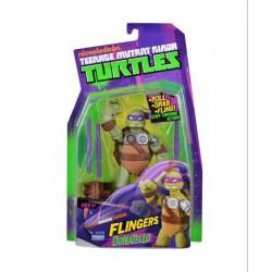 Tini nindzsa (ninja) teknőcök - Donatello akciófigura flingers, fegyverekkel Játék