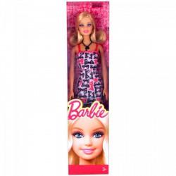 Barbie - Divatos Barbie fehér feliratos ruhában Játék - Barbie babák