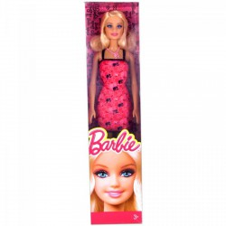 Barbie - Divatos Barbie pink-fekete ruhában Játék - Barbie babák