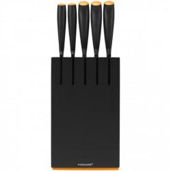 Fiskars Késblokk, 5 késsel, új Functional Form (fekete) (102638) késkészlet - FISKARS kések - Fiskars Fiskars