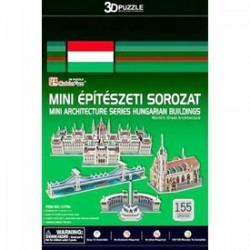 3D puzzle Mini magyar épületek 155 db-os Játék - Kirakók, puzzle-ok