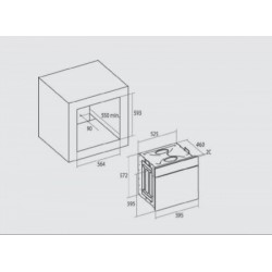 Nodor - DECOR 700 DT AC WH multifunkciós sütő Műszaki - Beépíthető készülékek