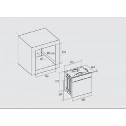 Nodor - DECOR 700 DT AC BK multifunkciós sütő Műszaki - Beépíthető készülékek