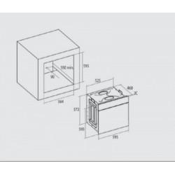 Nodor - DECOR 900 TCS AC BK multifunkciós sütő Műszaki - Beépíthető készülékek