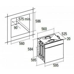 Nodor - D 809 DT AG multifunkciós sütő Műszaki - Beépíthető készülékek