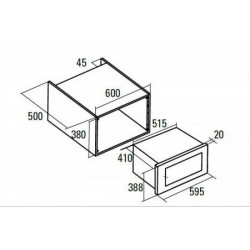 NODOR - NM 25 TG WH beépíthető mikrosütő Műszaki - Beépíthető készülékek