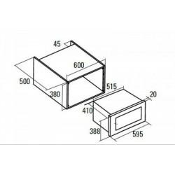 NODOR - NM 25 TG BK beépíthető mikrosütő Műszaki - Beépíthető készülékek
