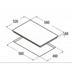 CATA - ISB 603 WH fehér Can Roca beépíthető indukciós kerámialap + ajándék bortartó - Beépíthető készülékek