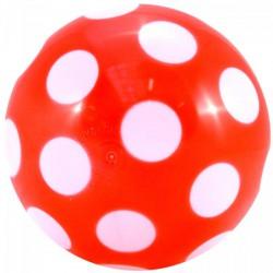 Piros, pöttyös gumilabda - 22 cm Játék - Sportjátékok