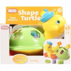 Fun Time Húzható teknős formakereső bébijáték - Funtime bébijátékok - Bébijátékok Fun Time