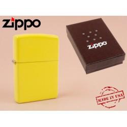 Zippo - öngyújtó matt citromsárga Ajándéktárgy - Dohányosoknak meglepik