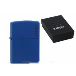 Zippo - öngyújtó matt kék -Nyugdíjbavonulási ajándék - Dohányosoknak meglepik