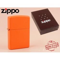 Zippo - öngyújtó matt narancssárga -Nyugdíjbavonulási ajándék - Dohányosoknak meglepik