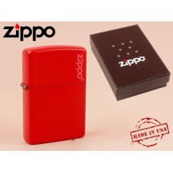 Zippo - öngyújtó matt piros -Nyugdíjbavonulási ajándék - Dohányosoknak meglepik