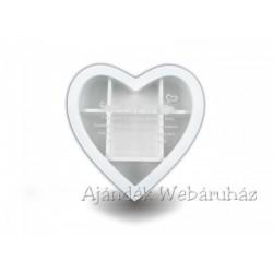 Teásdoboz szív 7 fakkos 20cm - RMD-2233 Ajándéktárgy - Díszdobozok