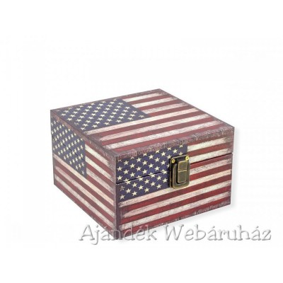 Díszdoboz amerikai kocka 16x16cm -Díszdobozok