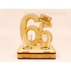 65. születésnapra pálinkás pohár szett Ajándéktárgy - Születésnapi ajándékok