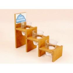 Pálinkás pohár 3db - Lépcső a mennyországba Ajándéktárgy - Születésnapi ajándékok