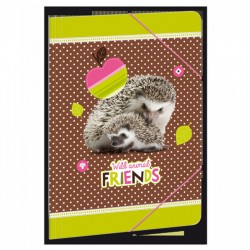 Hedgehog - gumis dosszié A/4, erdő/süni - AU-90216862 Táska, sulis felszerelés - Hedgehog