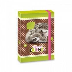 Hedgehog - füzetbox A/5, erdő/süni - AU-90866869 Táska, sulis felszerelés - Hedgehog