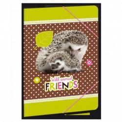 Hedgehog - gumis dosszié A/5, erdő/süni - AU-91766861 Táska, sulis felszerelés - Hedgehog