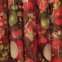 Herlitz - Karácsonyi csomagoló 2mx70cm, tekercses, karácsonyfadísz mintás - Ünnepi meglepik