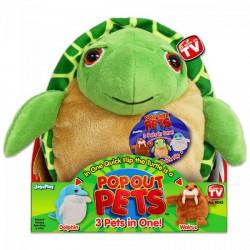 Pop out pets Ocean - Teknős, Delfin, Rozmár - POP Out Pets játékok - Plüss és állat,-mesefigurák Pop out pets