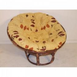 Papasan rattan fotel (115cm) barna színű - Indonéz rattan bútorok