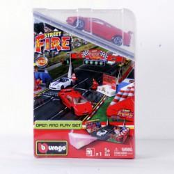 Bburago - 1:43 Race & Play street fire játékszett 2. - Burago autós szettek, autók - Burago autós szettek, autók