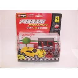 Bburago - Ferrari F355 Berlinetta sárga 1:43 Race & Play light and sound játékszett - Burago autós szettek, autók - Burago autós szettek, autók