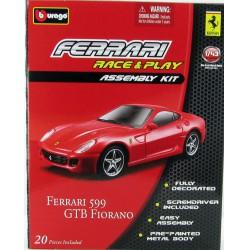 Bburago - Ferrari 599GTB Fiorano 1:43 Race & Play Assembly Kit szett - Burago autós szettek, autók - Burago autós szettek, autók
