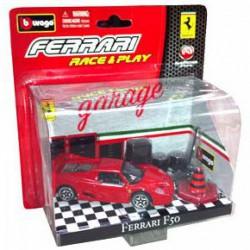 Bburago - Ferrari F50 1:43 Race & Play fekete autó - Burago autós szettek, autók - Burago autós szettek, autók