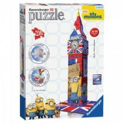 RAVENSBURGER - Big Ben Minyonok 3D PUZZLE, 216 DARABOS Játék - Kirakók, puzzle-ok