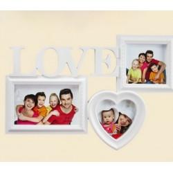 Fényképtartó Love 3 képhez -Születésnapi ajándékok - Dísztárgyak