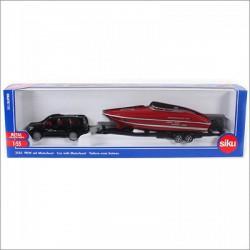 SIKU 2543 Versenycsónakot szállító autó 1:55 - SIKU modellautók - Pályák, kisautók Siku