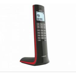 """VTECH - Telefon, vezeték nélküli, VTECH """"LS1400"""", fekete-piros - Telefonok"""