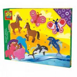 SES - Állatok 2400 darabos vasalható gyöngy készlet - SES kreatív játékok - SES kreatív játékok