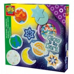 SES - Vasalható gyöngy 1000 darabos sötétben világító készlet Játék - SES kreatív játékok