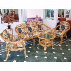 Mombasa 3 személyes rattan kanapé méz színű Otthon - Indonéz rattan bútorok