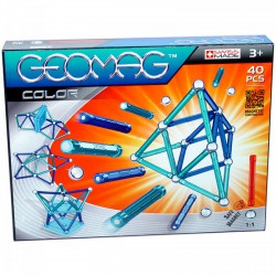 Geomag 40 darabos színes mágneses építőjáték készlet - Geomag építőjátékok - Építőjátékok Geomag