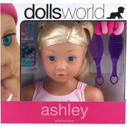 Dolls World Fésülhető babafej sok kiegészítővel, Ashley - Dolls World babák - Dolls World babák Dolls World