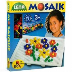 Lena - Mozaik képkirakó pötyi 100 darabos - Lena golyófuttató, pötyi, műanyag játékok - Lena golyófuttató, pötyi, műanyag játékok Lena