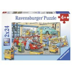 Ravensburger - Puzzle 2x24 db - Autószerelő Játék - Kirakók, puzzle-ok