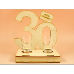 30. születésnapra pálinkás pohár szett -Születésnapi ajándékok - Születésnapi ajándékok