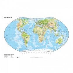 Herlitz - Könyöklő térkép 62,5cm x 41,5cm Táska, sulis felszerelés - Herlitz
