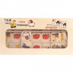 Farm 28 darabos dominó - ablakos dobozban - Logikai fajátékok - Fajátékok