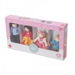 Le Toy Van - Fa baba család babaházakhoz, fajáték - Fajátékok lányoknak - Fajátékok