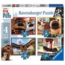 Ravensburger - Kis kedvencek 4 az 1-ben puzzle - RAVENSBURGER játékok - Kirakók, puzzle-ok
