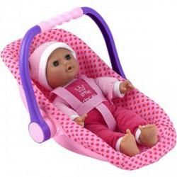 Isabella alvó baba babahordozóval - 30 cm - Dolls World babák - Dolls World babák Dolls World